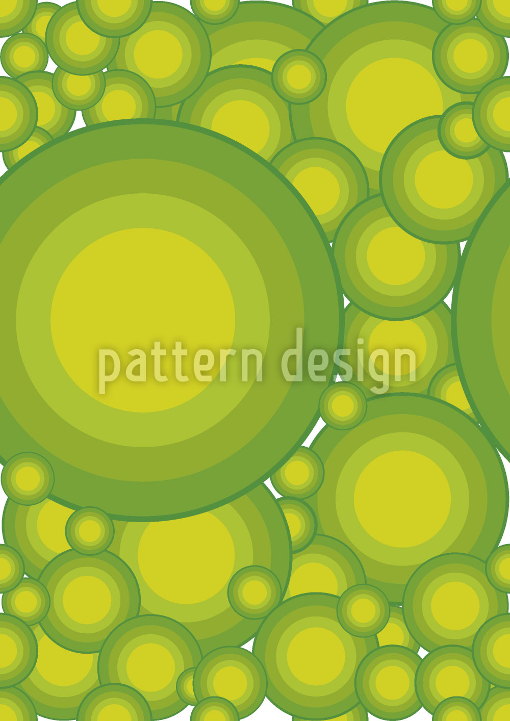 Designtapete Zitrus Kreise