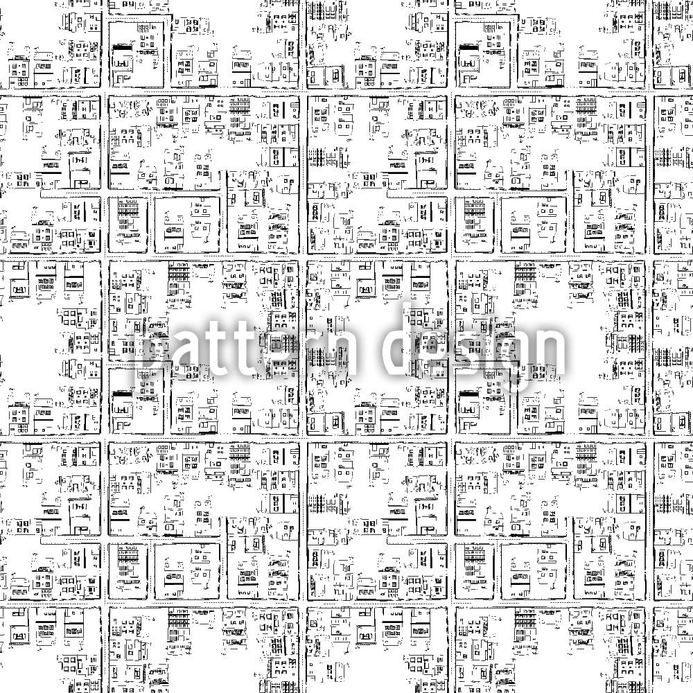 Designtapete Der Stadtplan