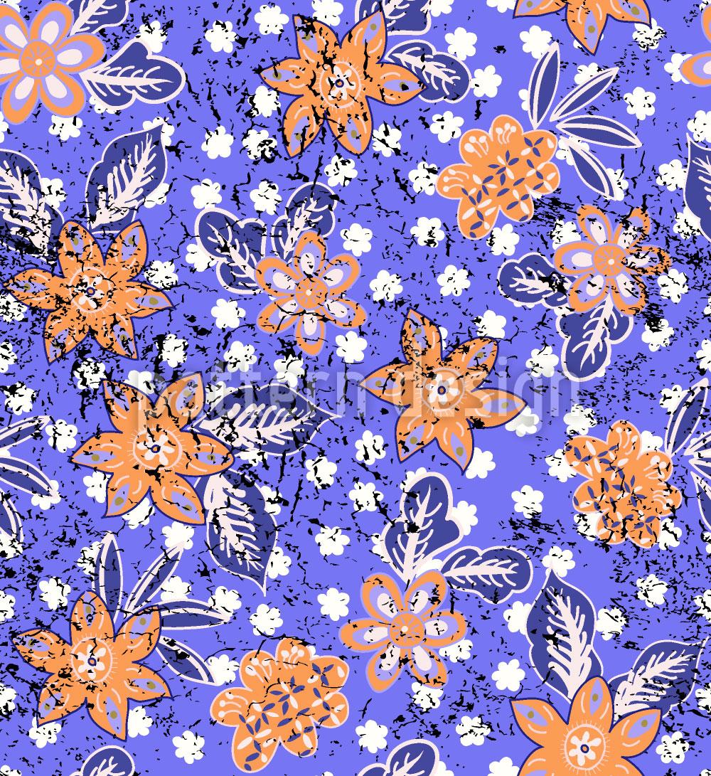 Designtapete Tropischer Blumen Druck