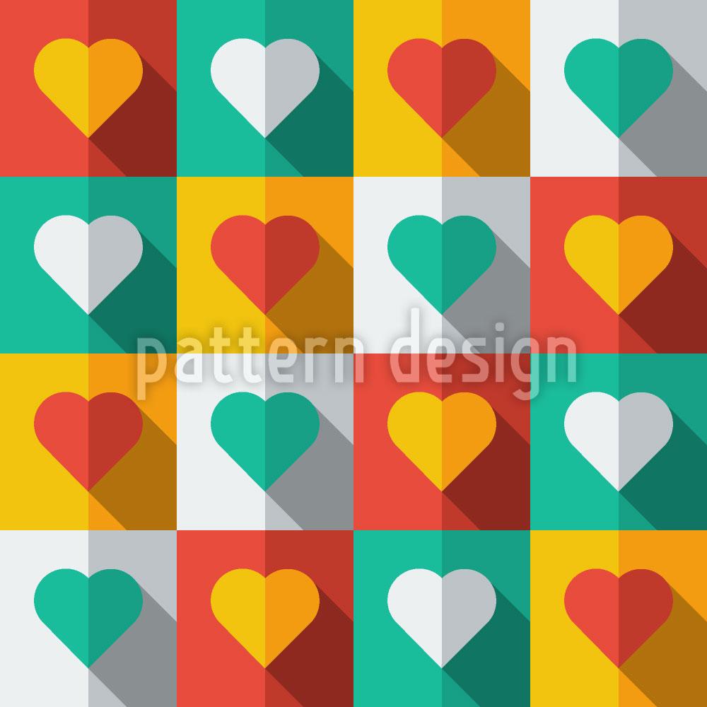 Designtapete Herzen Im Licht