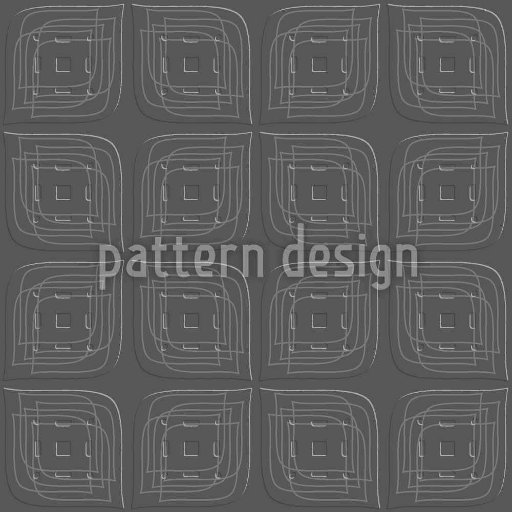 Designtapete Blätter Zum Quadrat