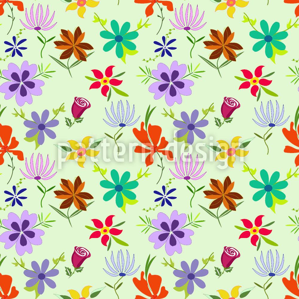Designtapete Kashmiras Blumen
