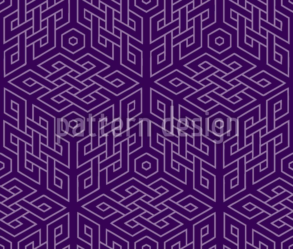 Designtapete Im Würfel Labyrinth
