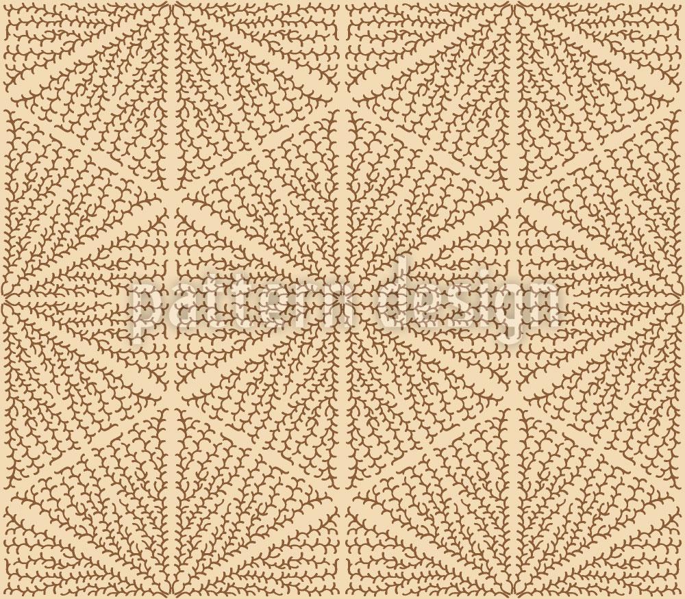 Designtapete Organisch Im Dreieck