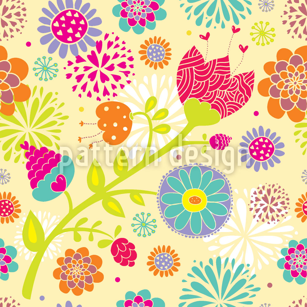 Designtapete Florale Sommer Festspiele