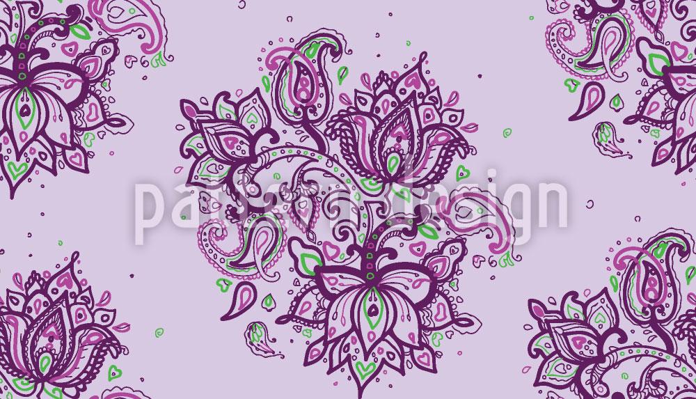Designtapete Paisley Bouquet