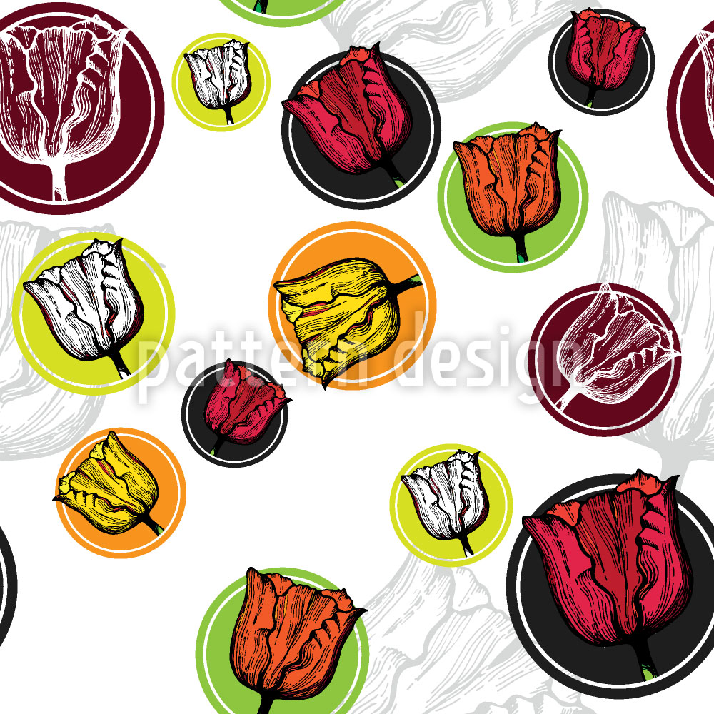 Designtapete Tulpen Sticker