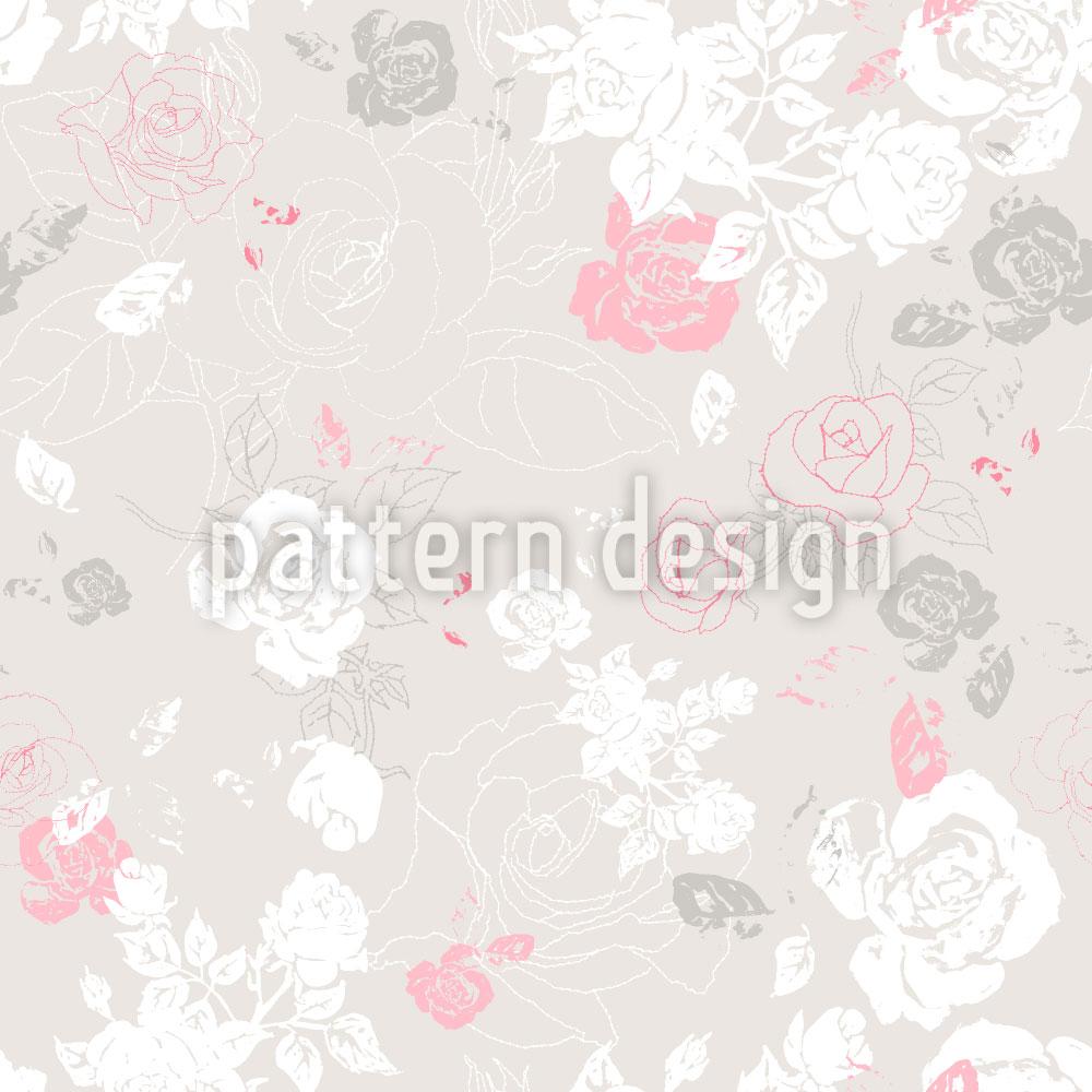 Designtapete Ein Hauch Von Rosen