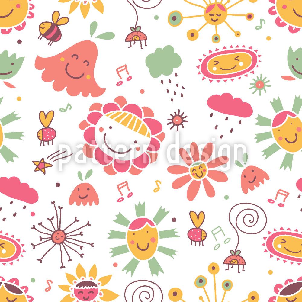 Designtapete Das Lied Der Blumen