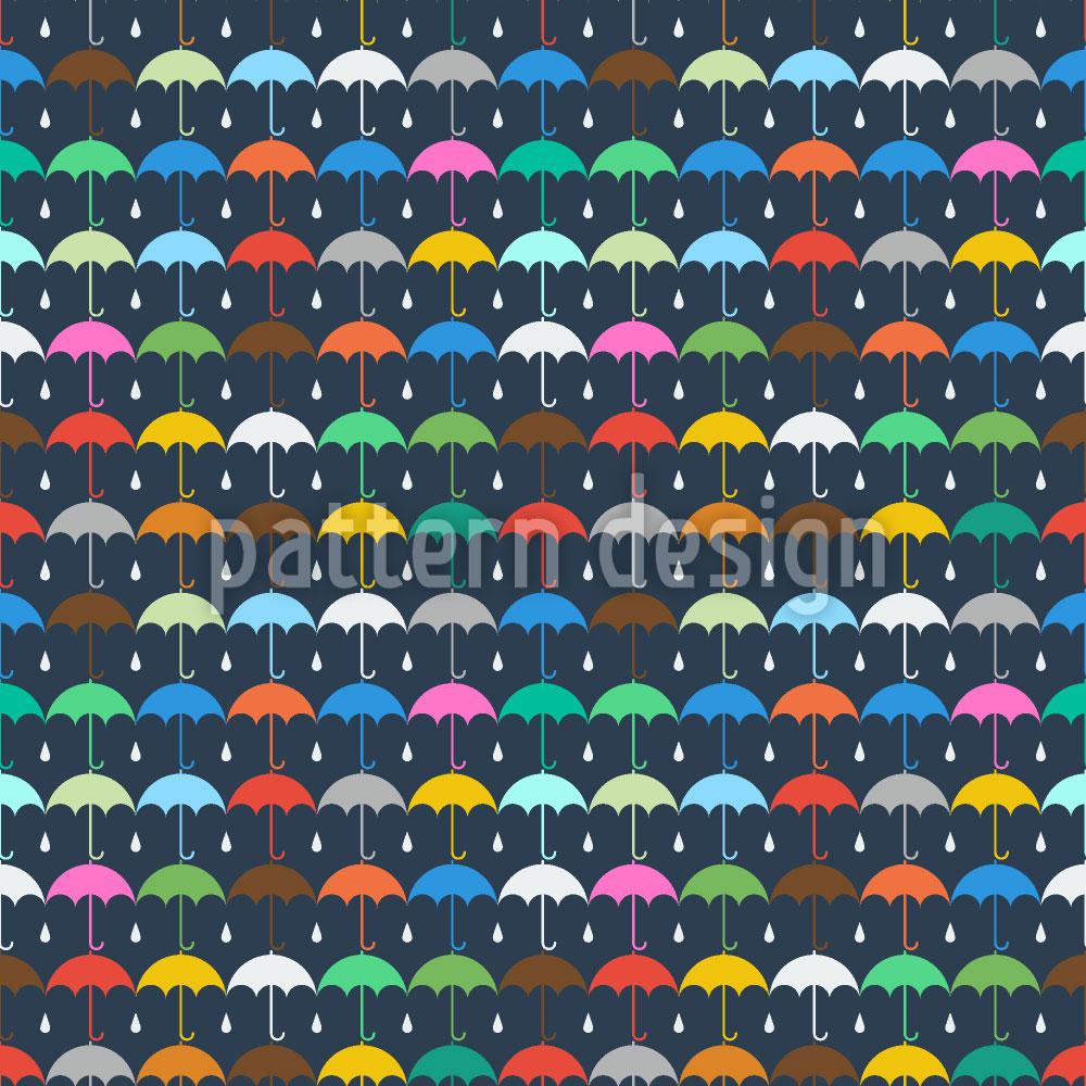 Designtapete Schirm Und Regentropf