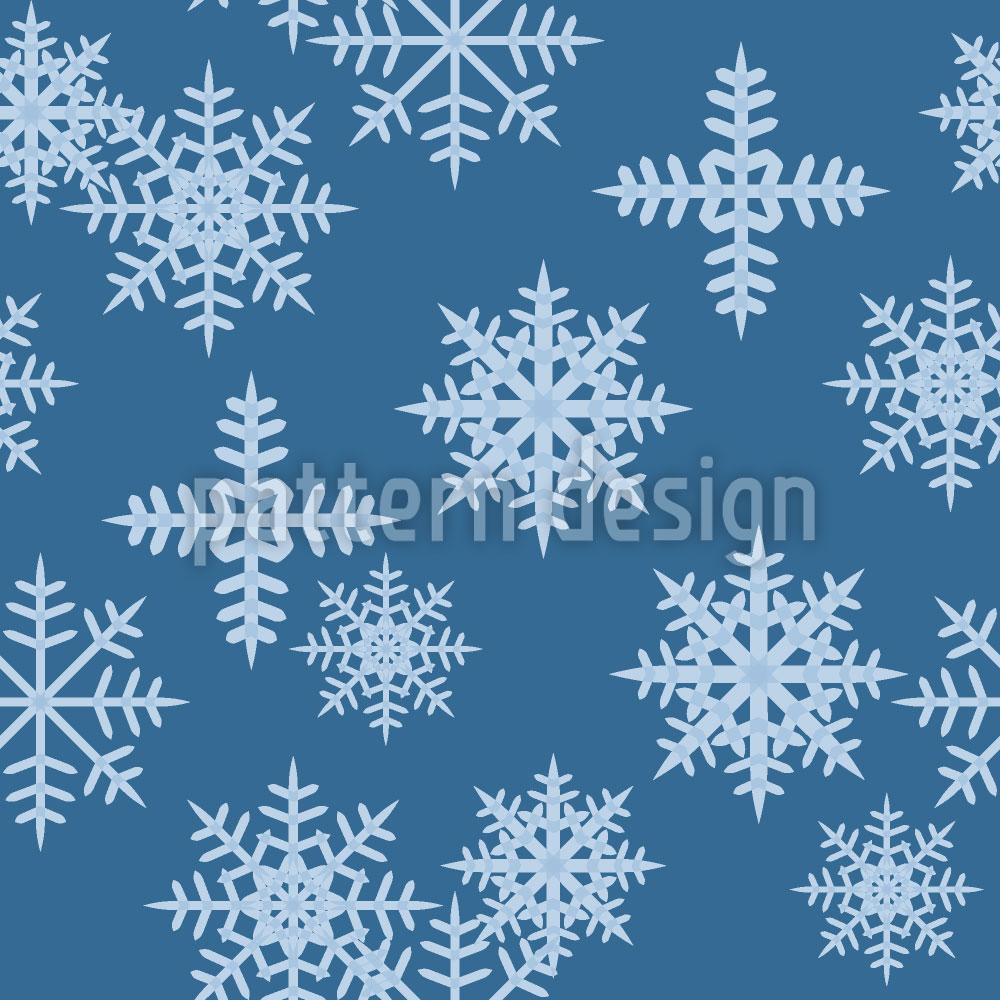 Designtapete Eiskristalle Blau