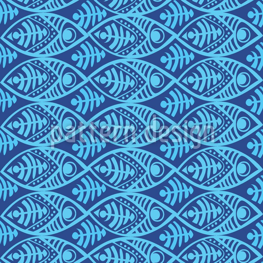 Designtapete Maori Fische