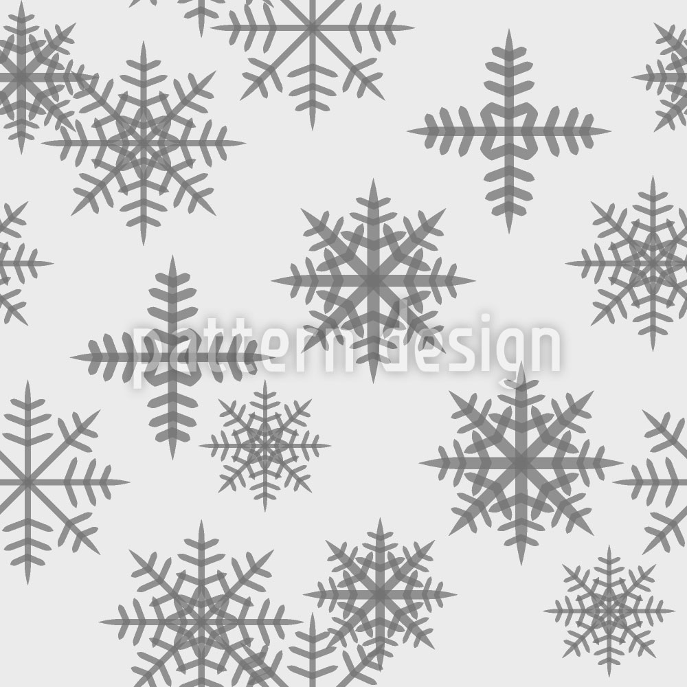 Designtapete Eiskristalle Weiss