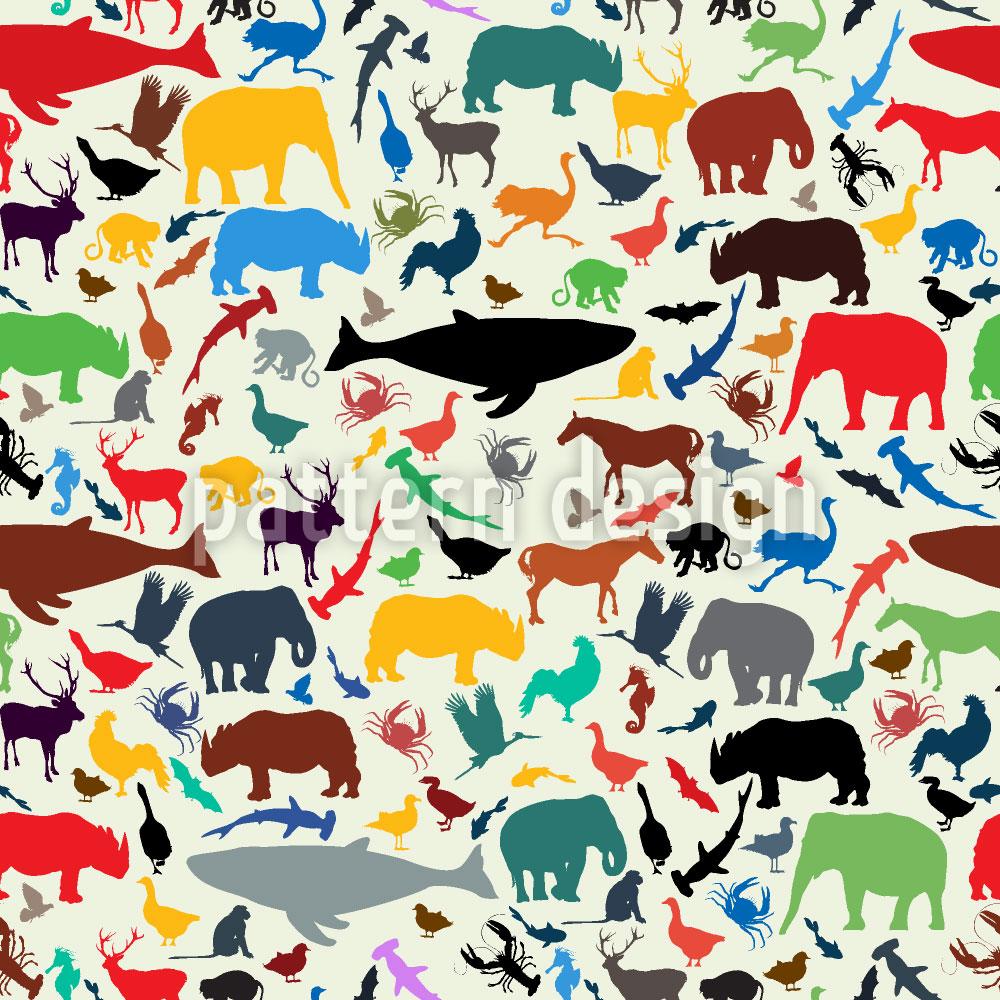 Designtapete Planet Der Tiere