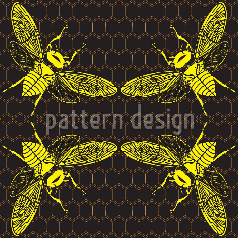 Designtapete Honig Bienchen