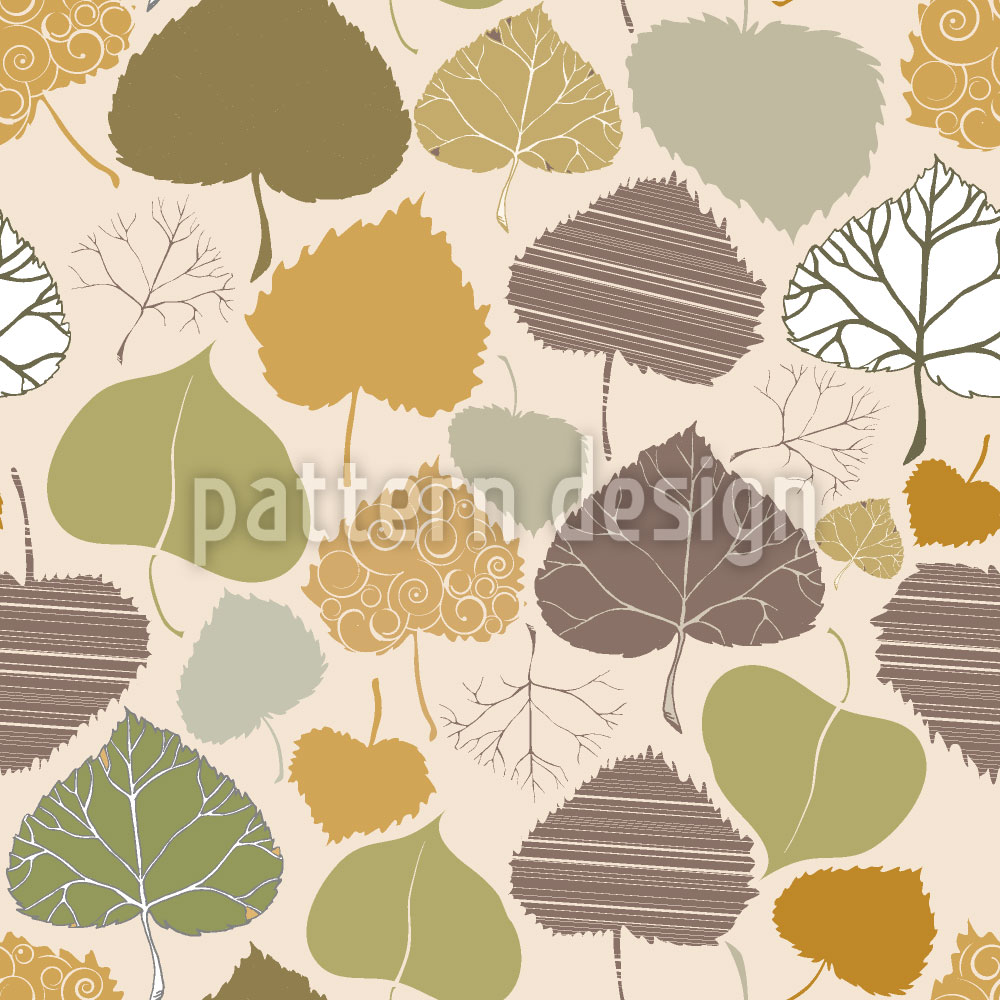 Designtapete Blatt Welt Im Herbst