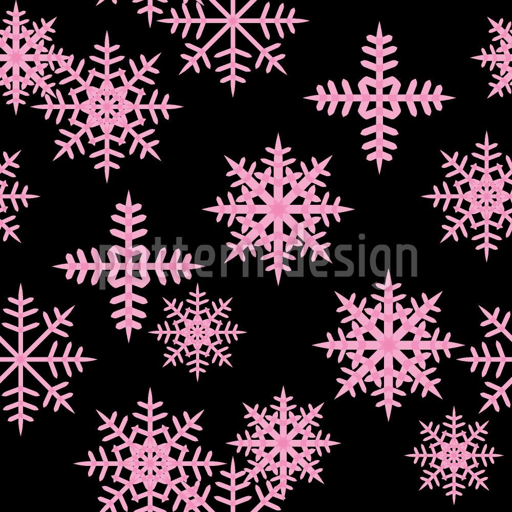 Designtapete Eiskristalle Schwarz