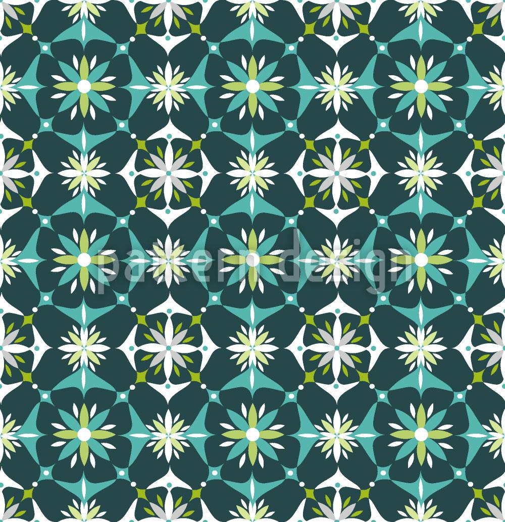 Designtapete Blumen Mosaik Im Frühling