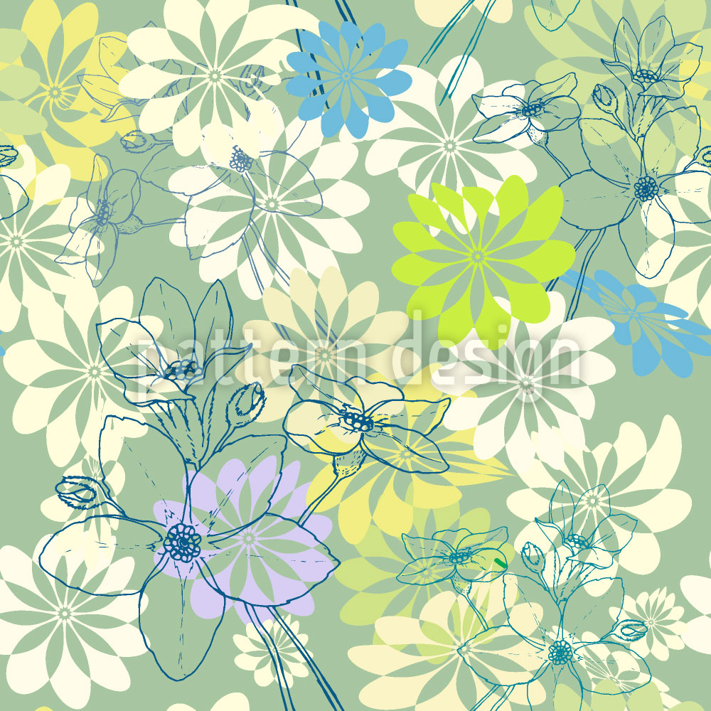 Designtapete Der Frühling Liebt Alle Blumen