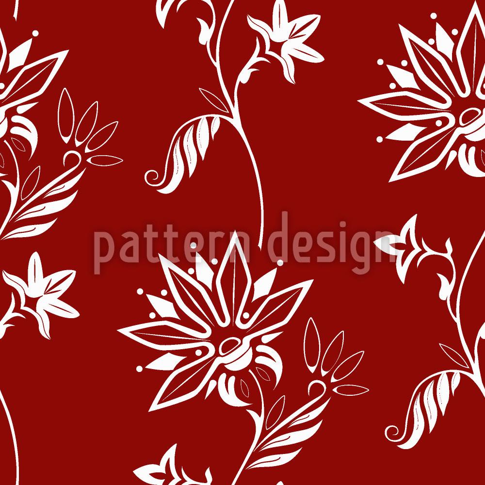 Designtapete Folklore Blumen