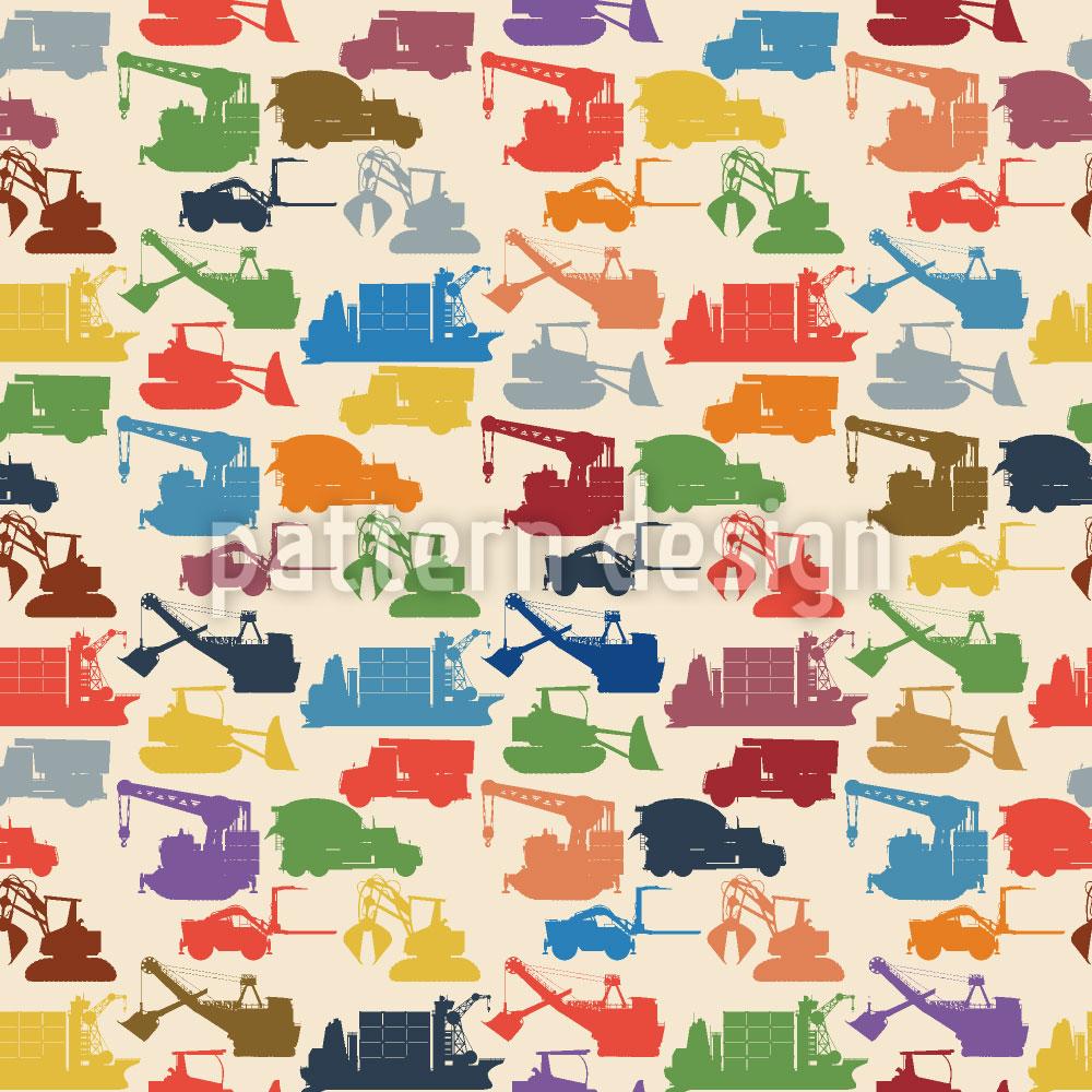 Designtapete Transport Und Maschinen
