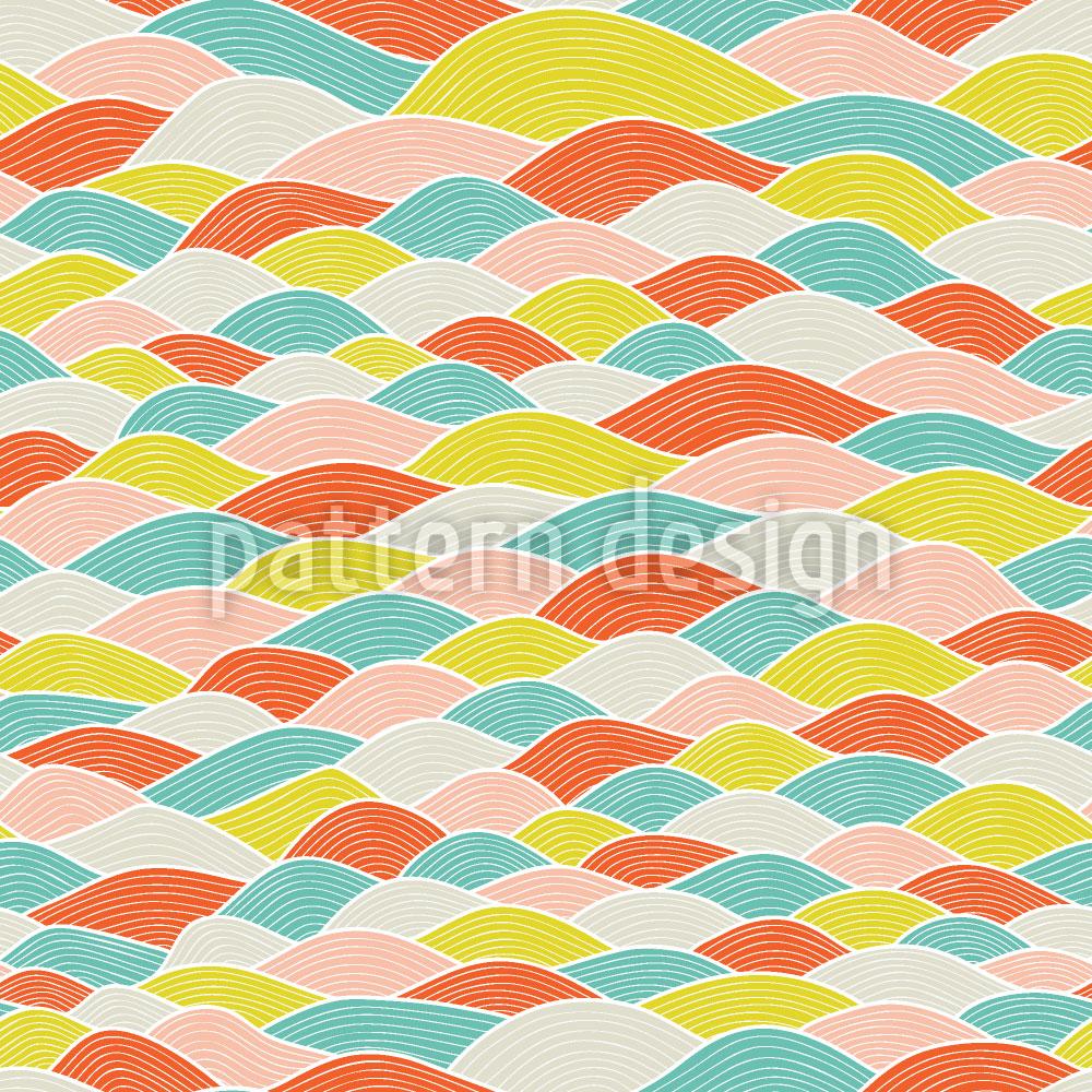 Designtapete Wellen Dimension