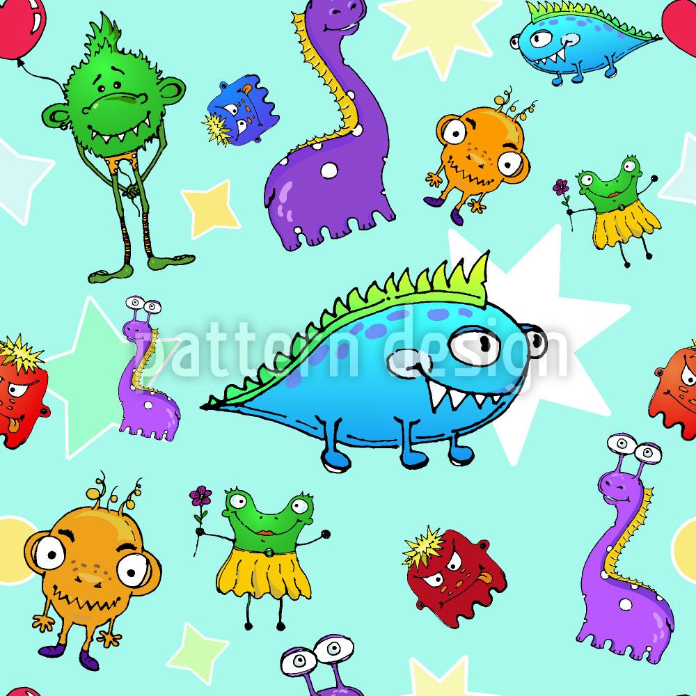 Designtapete Monster Stars