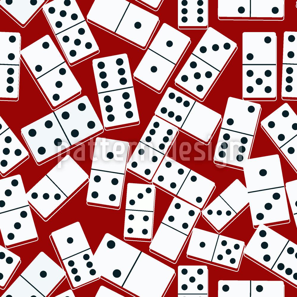 Designtapete Casino Domino