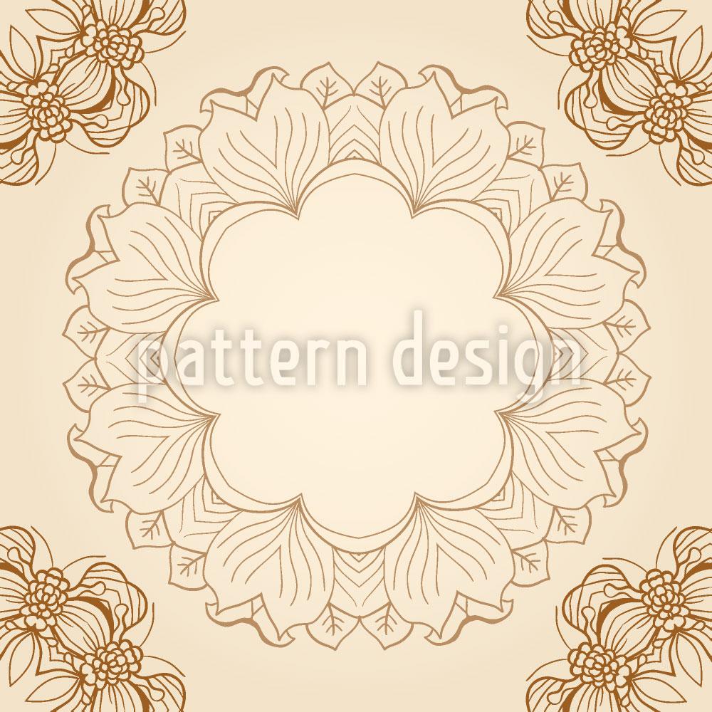 Designtapete Florale Nostalgie
