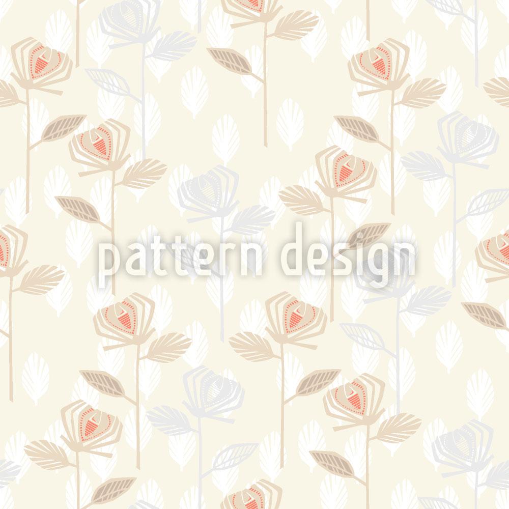 Designtapete Rosen Garten Der Fünfziger