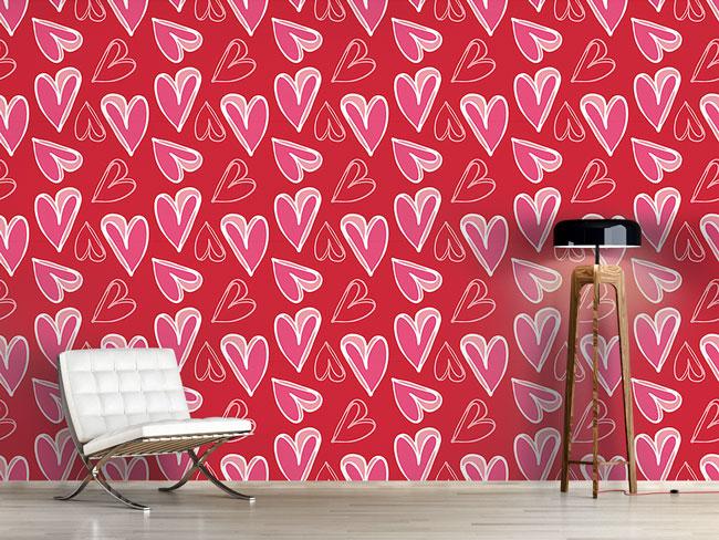 Designtapete Herz Für Herz