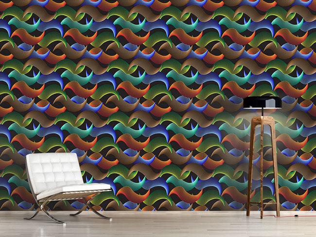 Designtapete Wellen Illusion