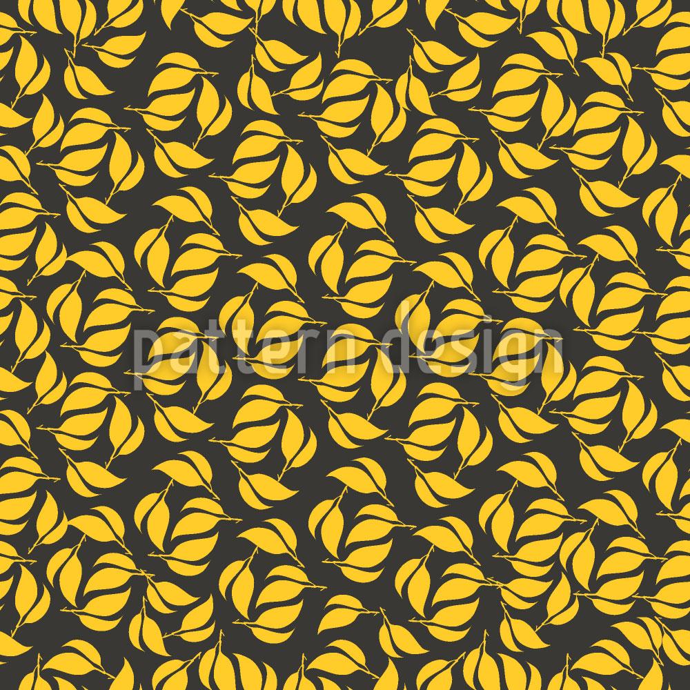 Designtapete Zwillings Blätter