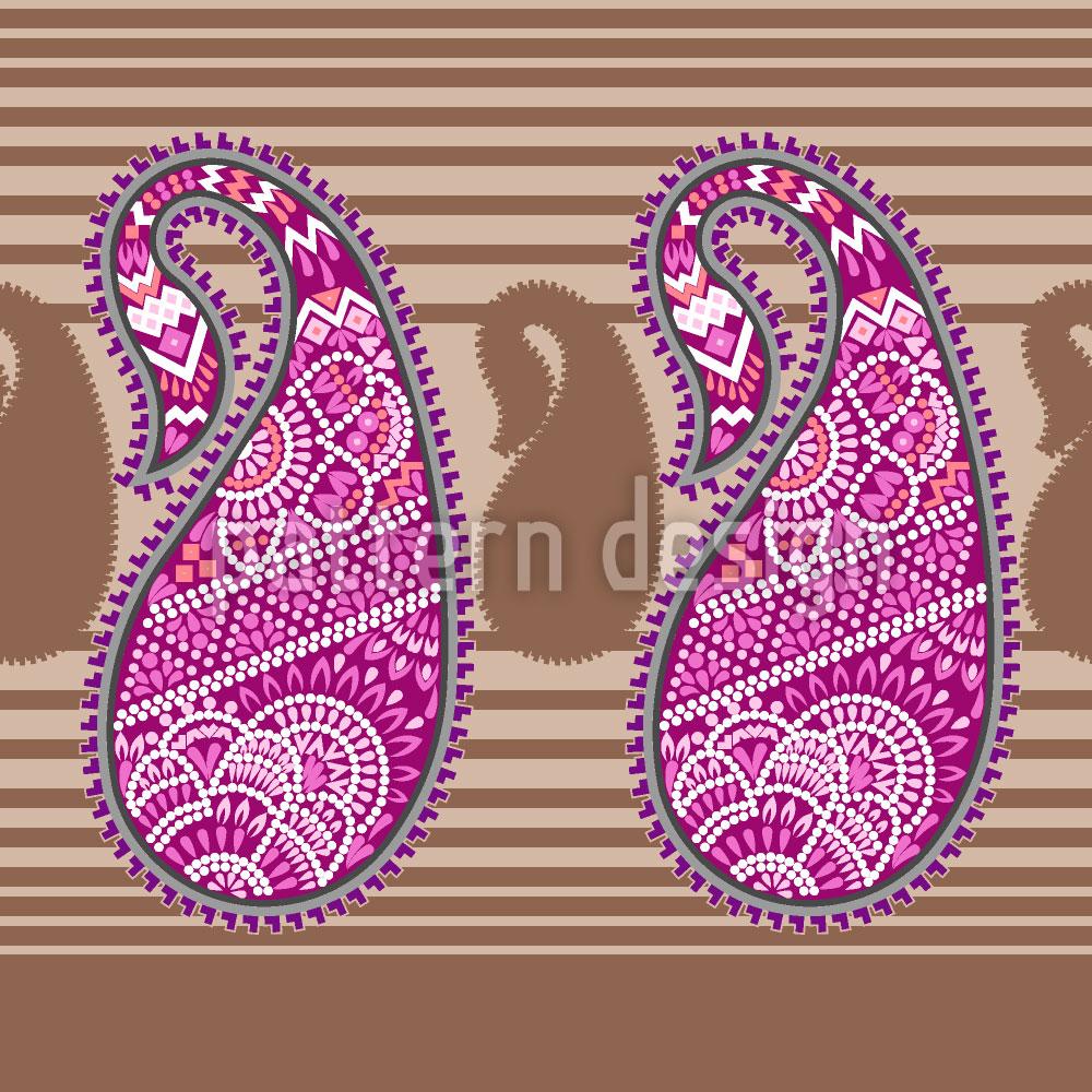 Designtapete Orientalisches Paisley