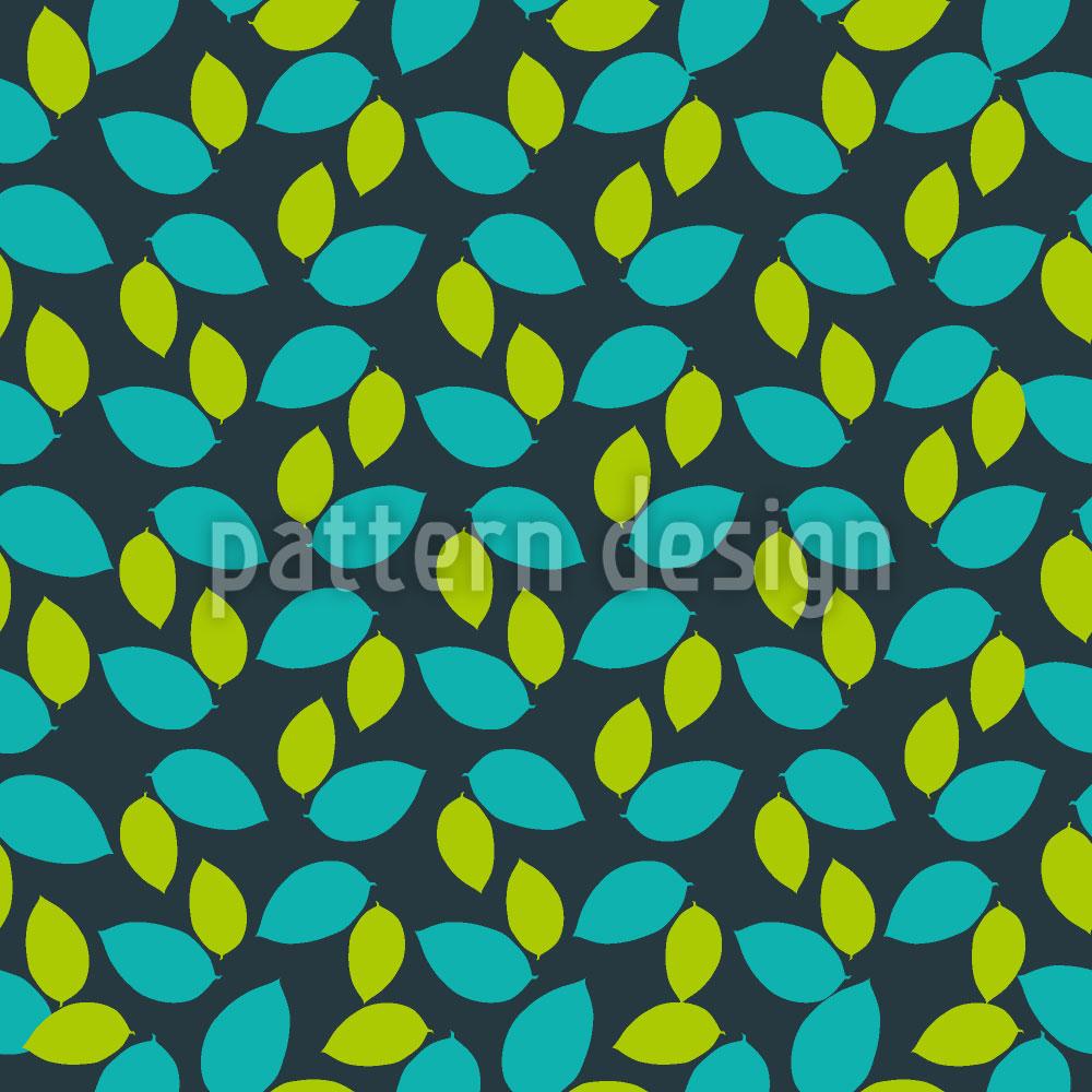 Designtapete Frucht Blätter
