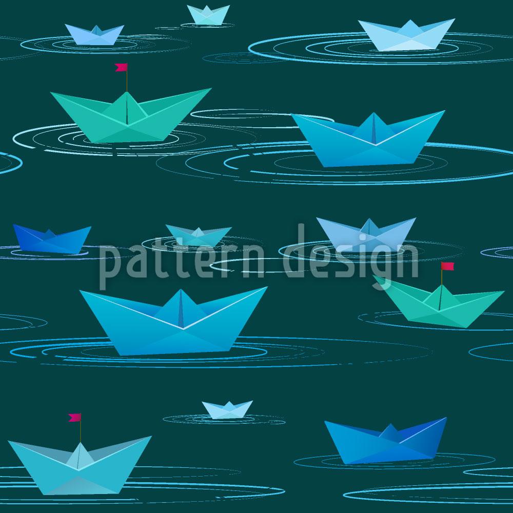 Designtapete Papier Schiffchen