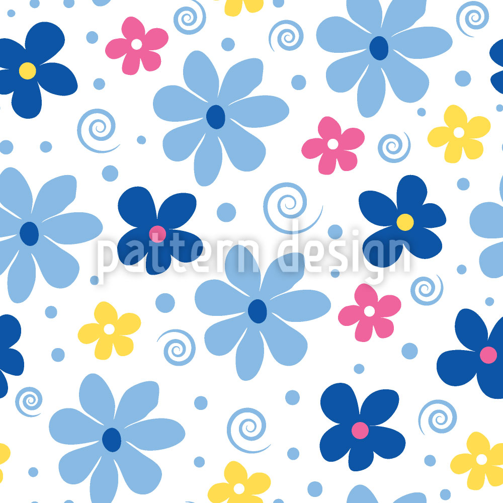 Designtapete Blumen Freude