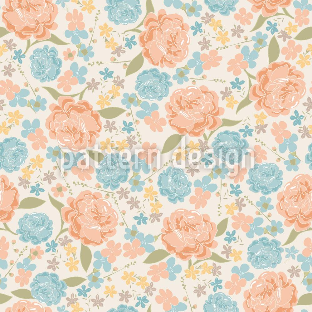 Designtapete Vintage Rosen Garten