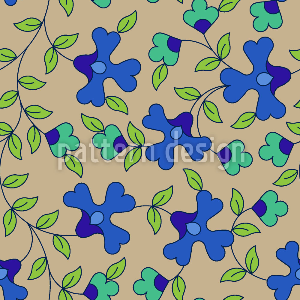 Designtapete In Blüte