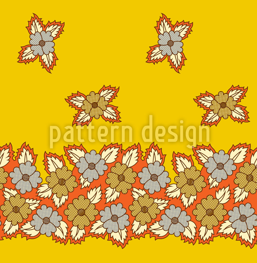 Designtapete Florales Beet