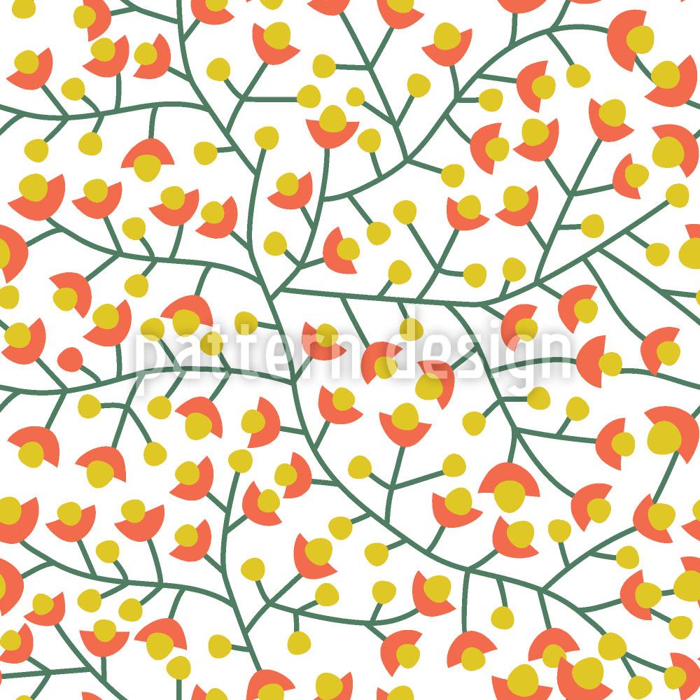 Designtapete Nordische Sommer Blüte