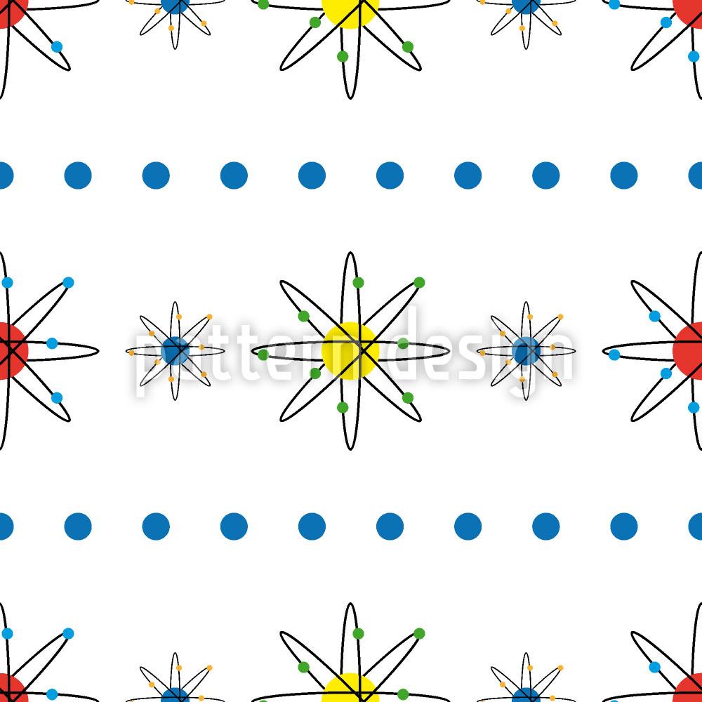Designtapete Atome