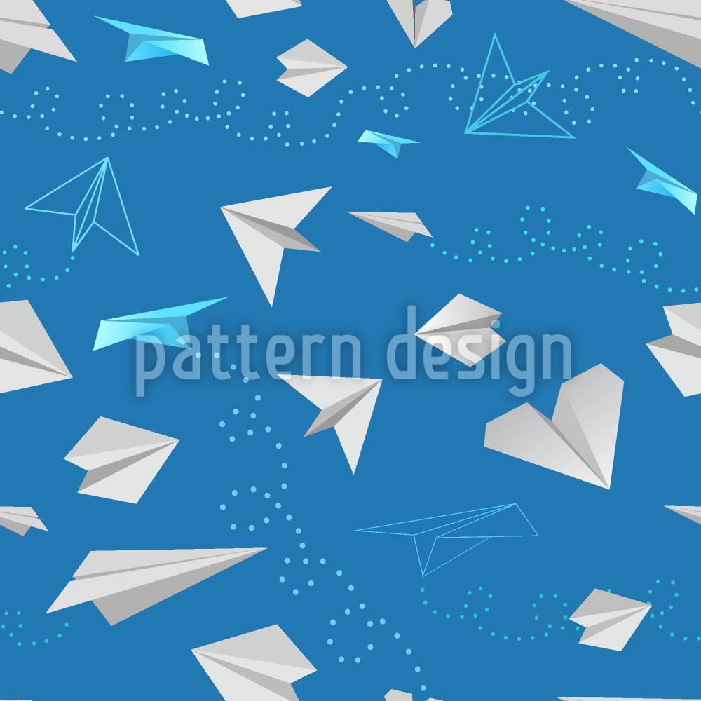 Designtapete Papier Flieger