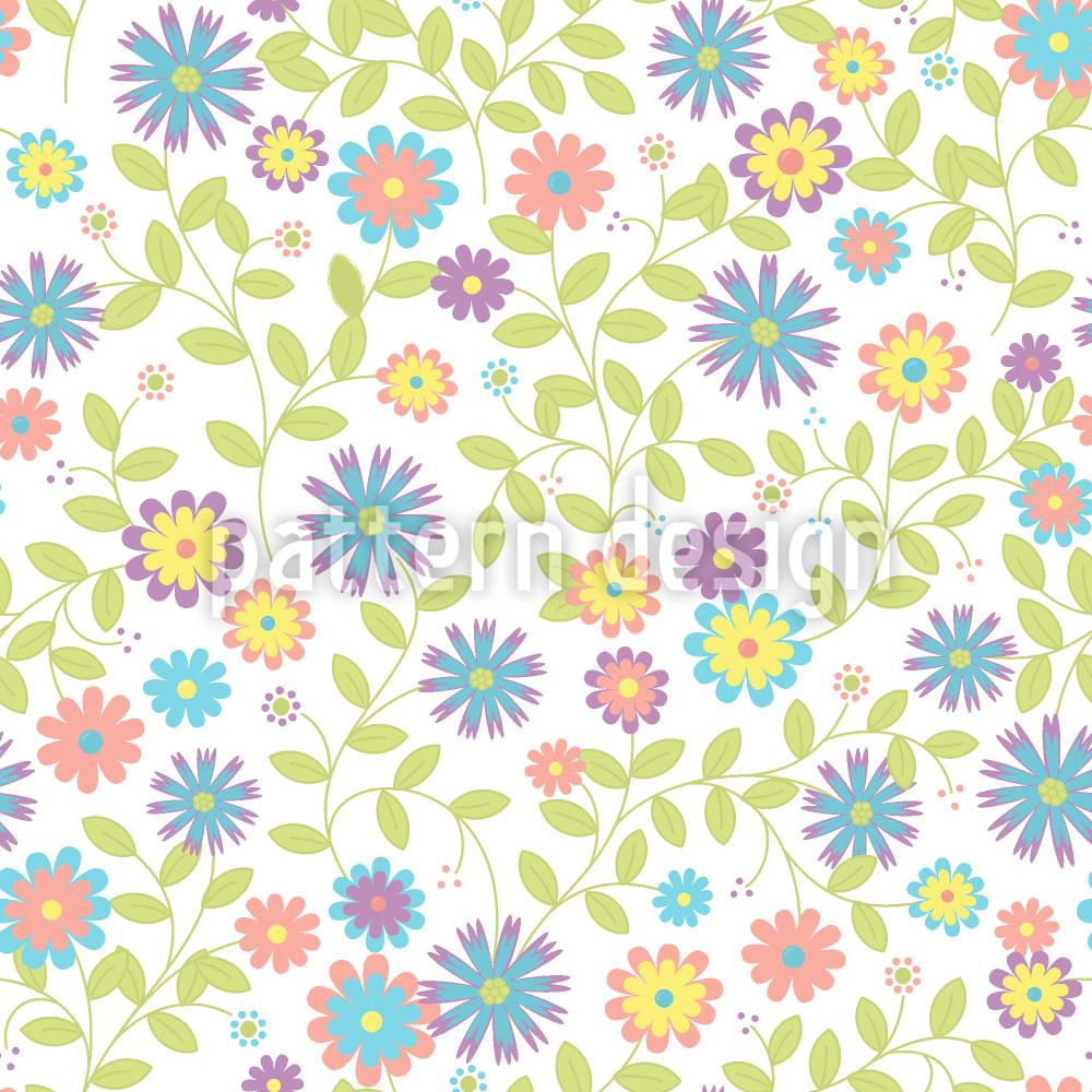 Designtapete Florales Morgenlied