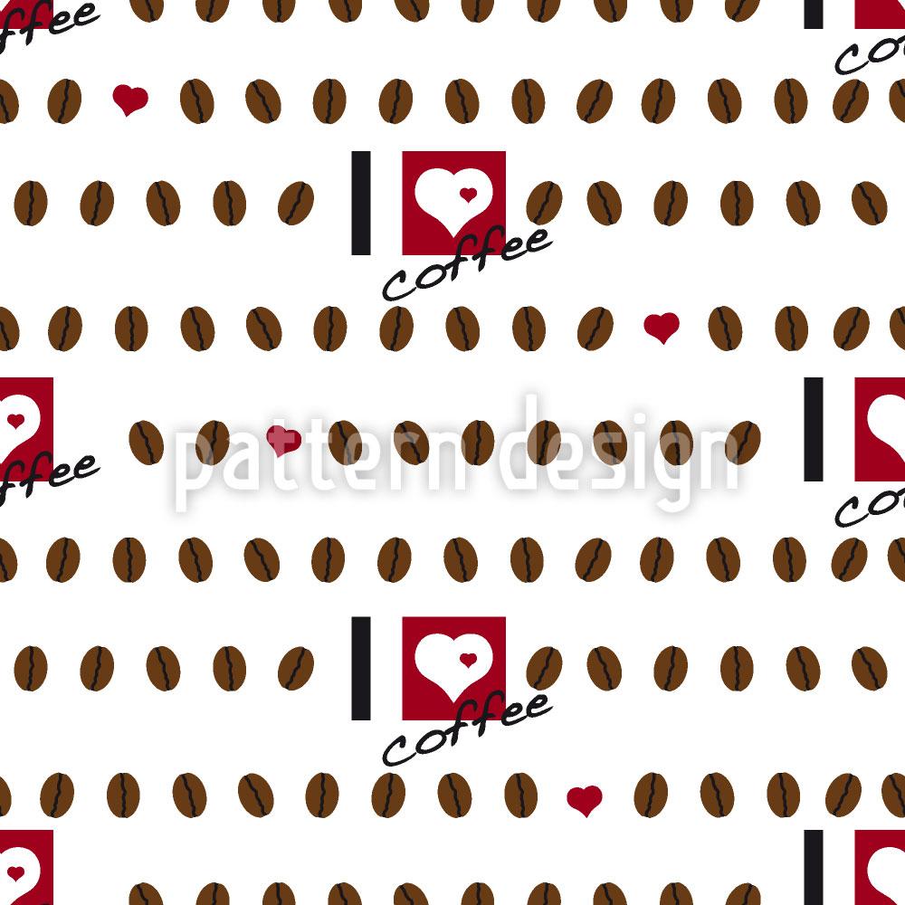 Designtapete I Love Coffee