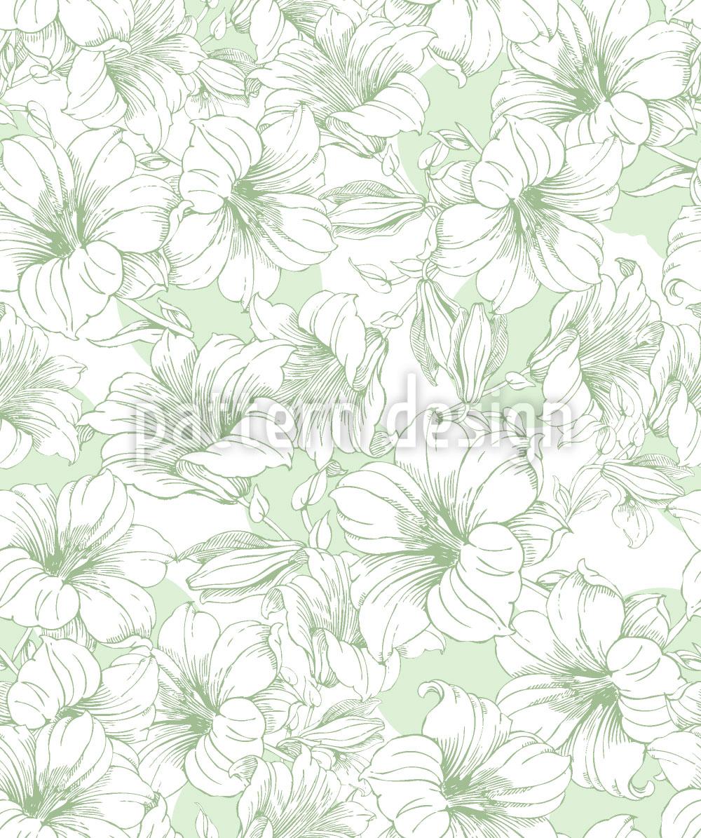 Designtapete Blühender Hibiskus