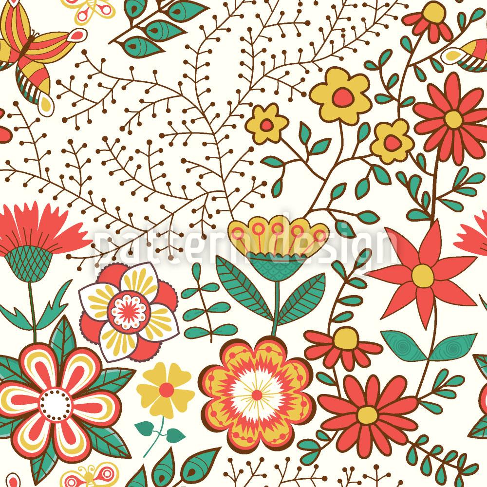 Designtapete Blumengarten