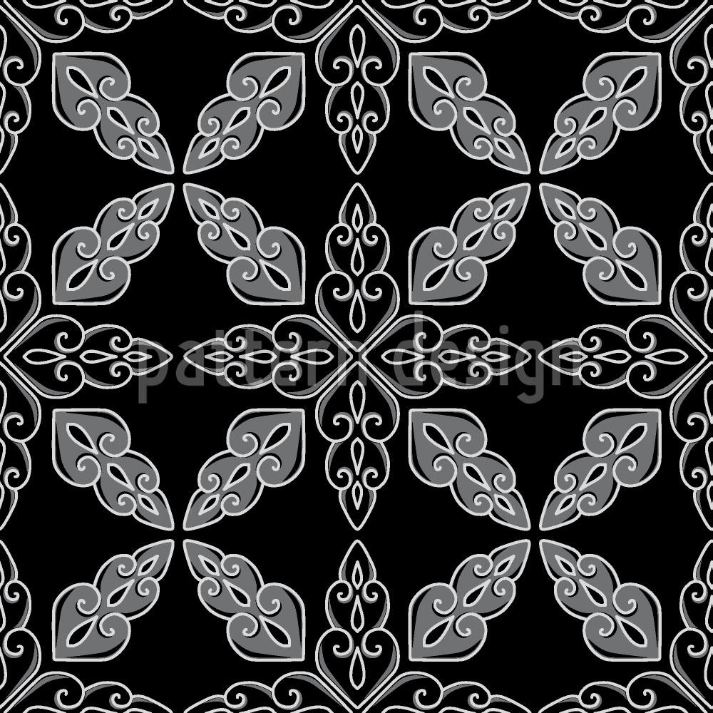 Designtapete Marokkanisch Schwarz