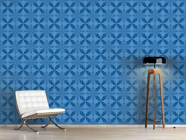 Designtapete Marokkanisches Blau