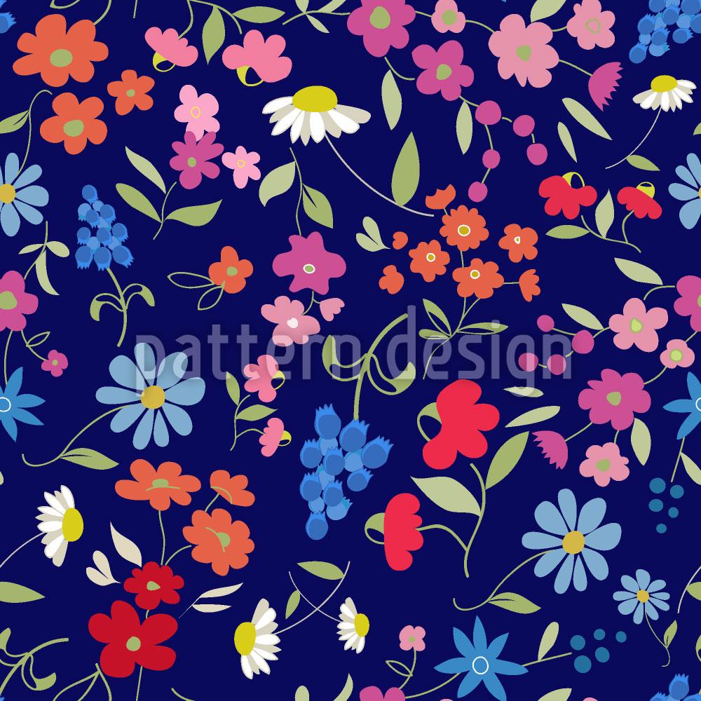 Designtapete Blumen Mix